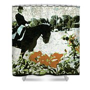 Dressage Roses Shower Curtain