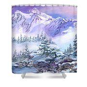 Dressed In White Mount Shuksan Shower Curtain