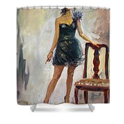 Dressed Up Girl Shower Curtain