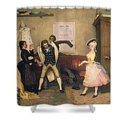 Dressing For The Masquerade Shower Curtain