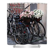 Dressing Up The Bicycle Stand Shower Curtain