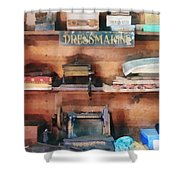 Dressmaking Supplies And Sewing Machine Shower Curtain
