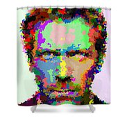 Dr. House Portrait - Abstract Shower Curtain
