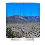 Dried Lake Beach Shower Curtain