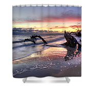 Drifter's Dreams Shower Curtain by Debra and Dave Vanderlaan