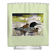 Drifting Among The Waterlilies Shower Curtain