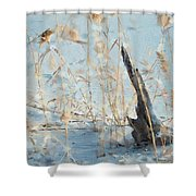 Driftwood Abstract Shower Curtain