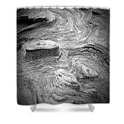 Driftwood Butte Bw 1 Shower Curtain