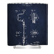 Drill Pounder Patent Drawing From 1922 Shower Curtain