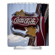 Drink Coca Cola Sign Shower Curtain