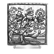 Drinking Party, 1516 Shower Curtain