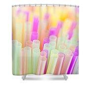 Drinking Straws Shower Curtain