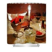 Drinks Before Dinner Shower Curtain