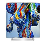Dripping Lego Paint Shower Curtain