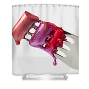 Dripping Lipstick Shower Curtain