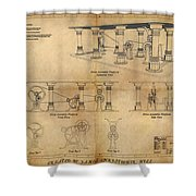 Drive Assembly Platform Shower Curtain by James Christopher Hill