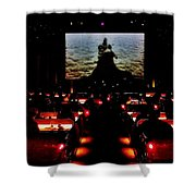 Drive-in Monster Movie Shower Curtain