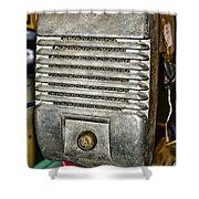 Drive In Movie Speaker Shower Curtain by Paul Ward