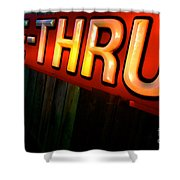 Drive Thru Shower Curtain