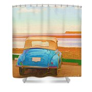 Drive To The Shore Shower Curtain