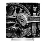 Drive Wheel - 190 - Bw Shower Curtain