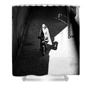 Driveby Encounter  Shower Curtain