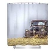 A Rusty Abandoned Truck Near Sturgis South Dakota Shower Curtain