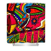 Driven To Abstraction - Parts And Pieces Shower Curtain