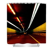 Driving In Boston Shower Curtain