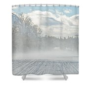 Driving In The Snow Shower Curtain