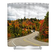 Driving Through Algonquin Park In Fall Shower Curtain