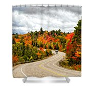 Driving Through Algonquin Park - V2 Shower Curtain