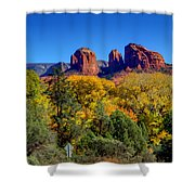 Driving Towards Beauty Shower Curtain