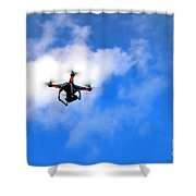 Droning Shower Curtain
