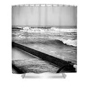 Dropping Bombs Shower Curtain