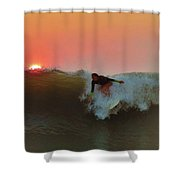 Dropping In At Sunrise 5 10/2 Shower Curtain