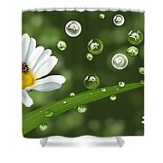 Drops Of Spring Shower Curtain