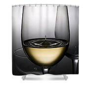 Drops Of Wine In Wine Glasses Shower Curtain