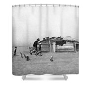 Drought Dust Storm, 1936 Shower Curtain