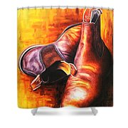 Drover's Best Mate Shower Curtain