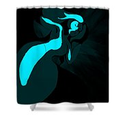 Drowning Girl Shower Curtain