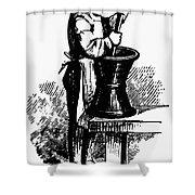 Druggist, 19th Century Shower Curtain