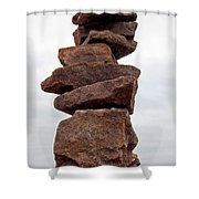 Druid Cairn  Shower Curtain