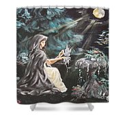 Druid's Meditation Shower Curtain