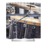 Drum Kit Set Closeup Shower Curtain