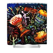 Drumbeat Shower Curtain