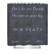 Wb Yeats -one Of Irelands  Greatest Poets Shower Curtain