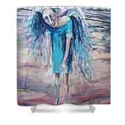 Drunk Angel Shower Curtain