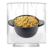 Dry Chamomile In A Black Cup Shower Curtain