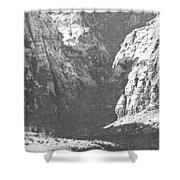 Dry Desert Waterfall Pencil Rendering Shower Curtain